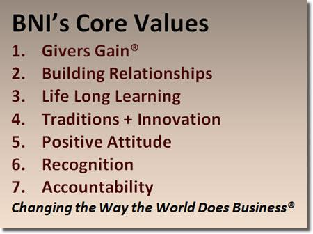 BNI Core Values